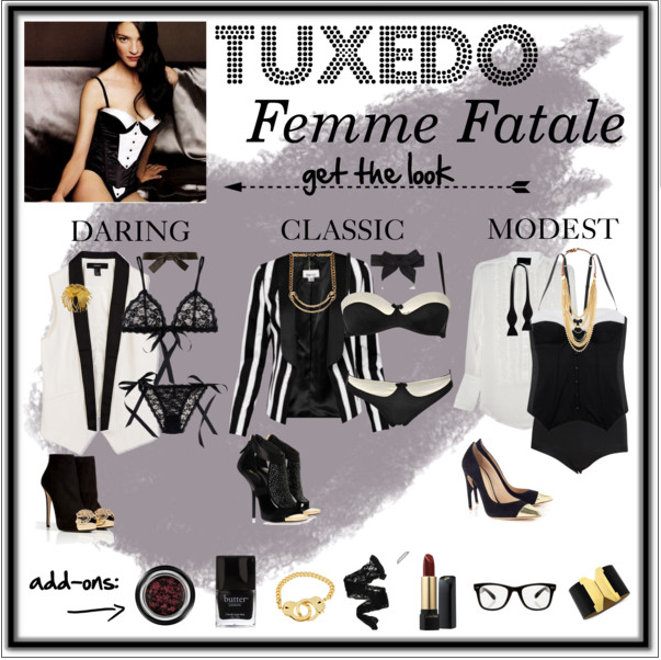 Fashionista Friday: Tuxedo Femme Fatale | The Sensual Photographer, Portland OR